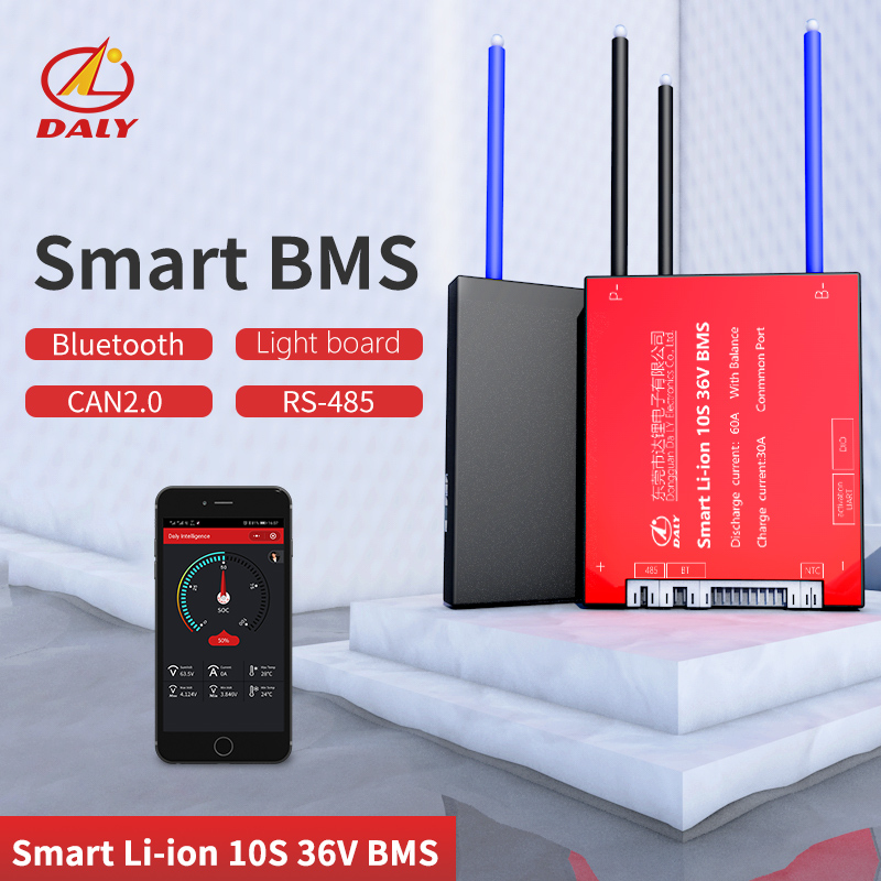 Daly Smart BMS  10S 36V  Bluetooth+485 To USB Device +CAN+NTC +UART  Togther Lion LiFePO4 LTO  Batteries2.3V/2.4V Conn