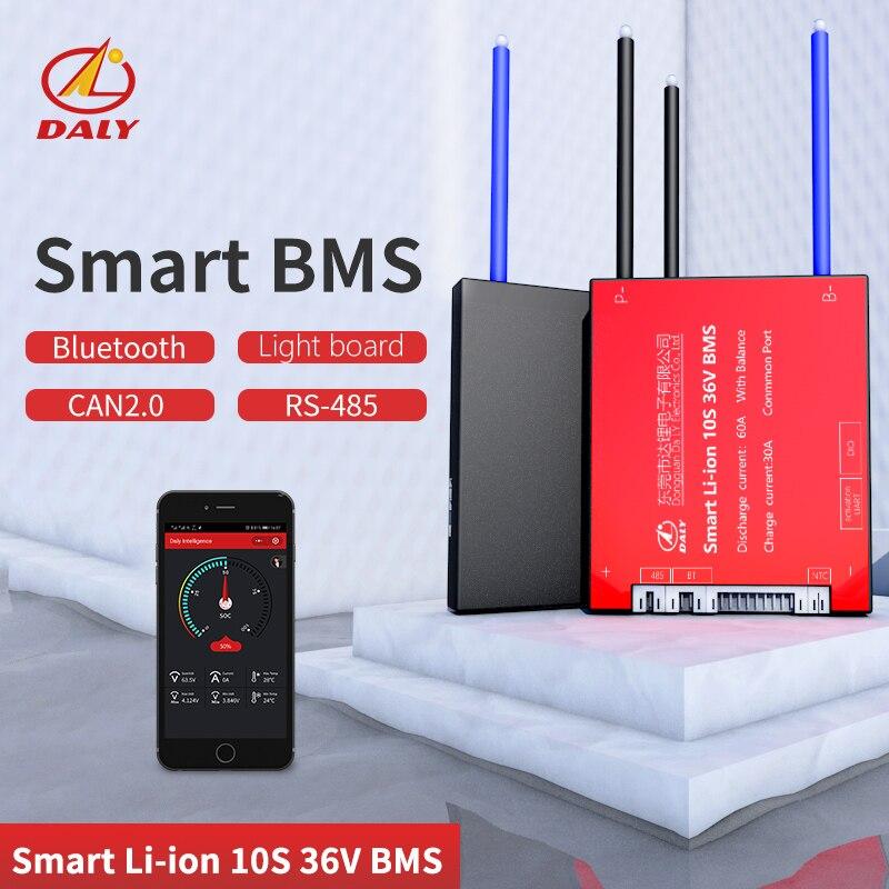 Daly Smart BMS  10S 36V  Bluetooth+485 To USB Device +CAN+NTC +UART  Togther Lion LiFePO4 LTO  Batteries2.3V/2.4V Conn