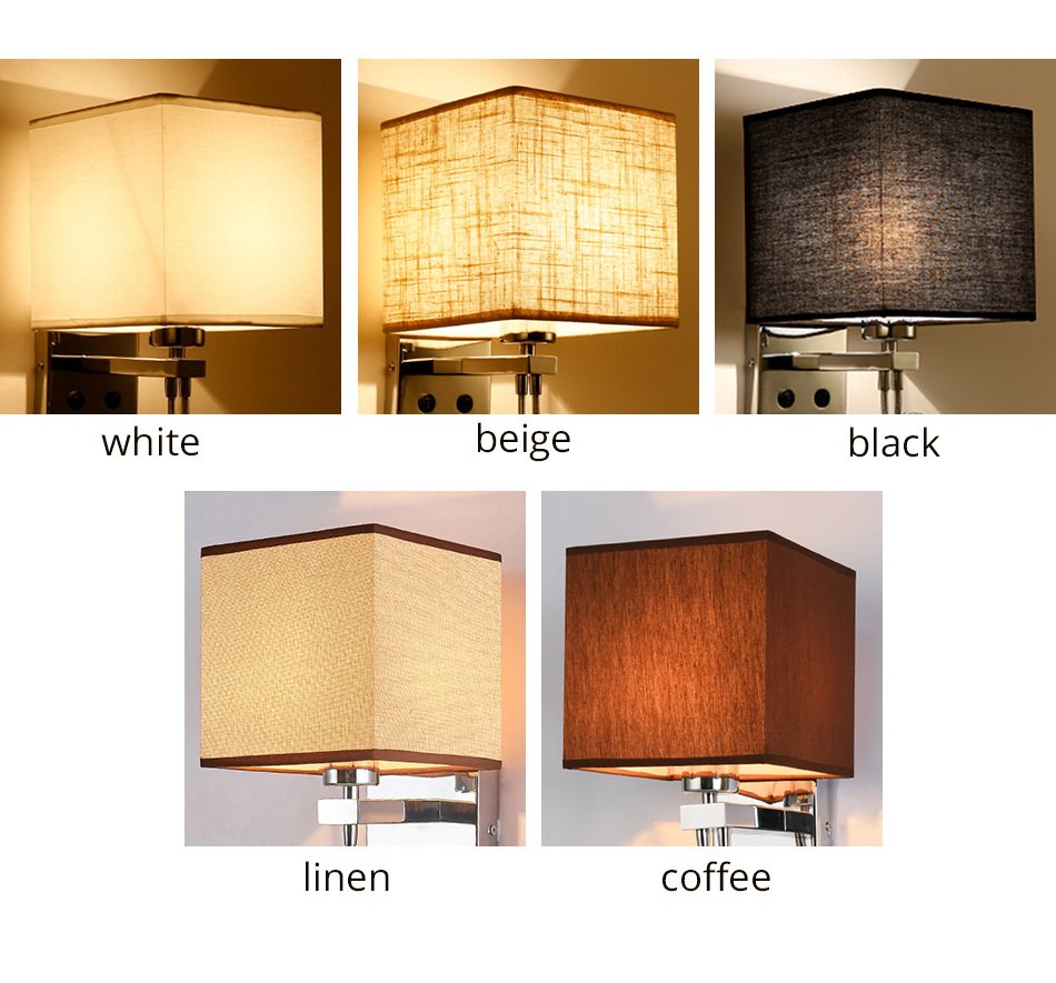 Wall Lamp Sconce Switch Stairs Light Luminaires Fixture E27 Bulb Bedroom Decor Bathroom Modern Bedside Lighting Wall Mounted (13)