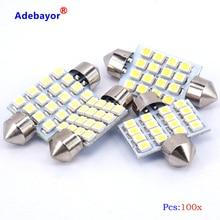 Free shipping 100x 31mm 36mm 39mm 41mm 16 SMD 1210 3528 LED Festoon light LED Festoon Interior Dome Light Lamp Bulb Adebayor