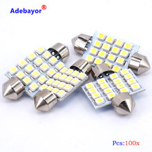 Envío Gratis 500x31mm 36mm 39mm 41mm 16SMD 1210 3528 luz LED festoon LED Domo interior de adorno del bulbo de lámpara de luz Adebayor