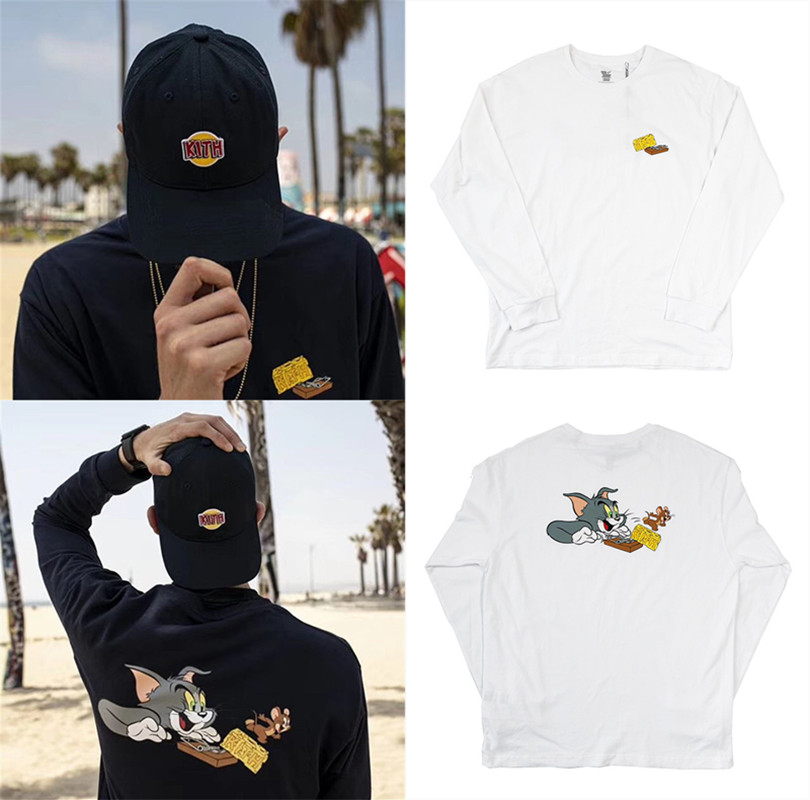 Long sleeve KITH 19SS T Shirt Men Women 1:1 High Quality KITH Tom T-Shirts KITH Tees