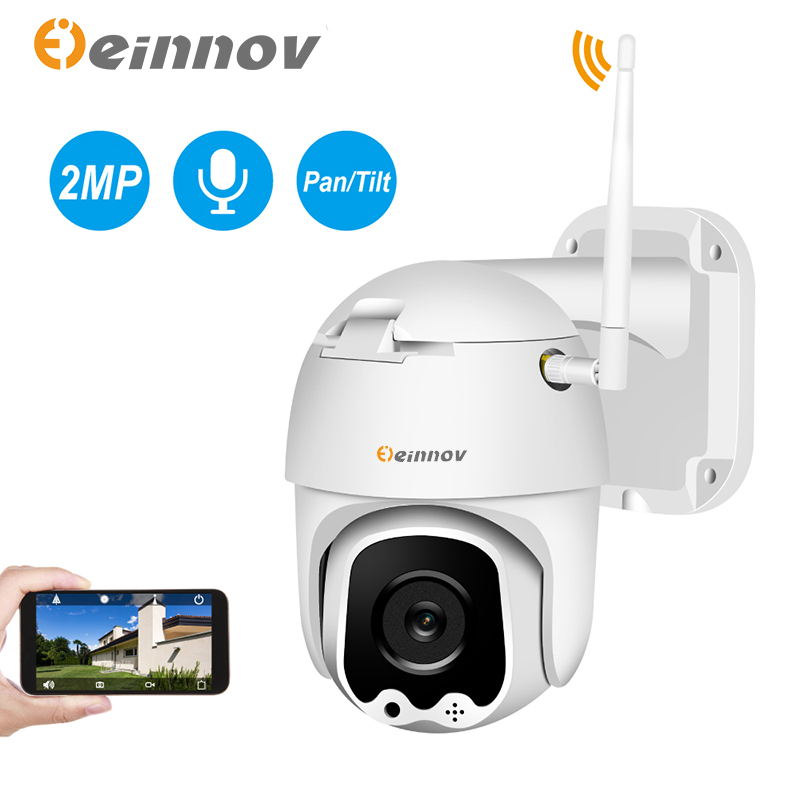 Einnov 3.6mm 2MP PT IP Camera Outdoor Security Wireless Camera Surveillance Camara Home Wifi Two Way Audio CCTV Dome 1080P HD