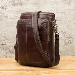 2021 мужская деловая сумка через плечо из натуральной кожи, винтажная слинг-сумка через плечо для мужчин, мессенджеры, рабочие сумки для сотов...