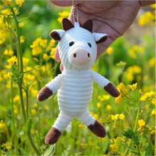 Ornament Bossy Doll Key-Chain-Bag Stuffed-Toys Plush-Toy Cow-Pendant Small Cute of