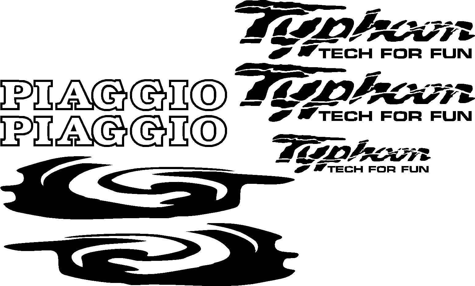 Для Piaggio Typhoon Tech для Забавный роллер мопед наклейки графика
