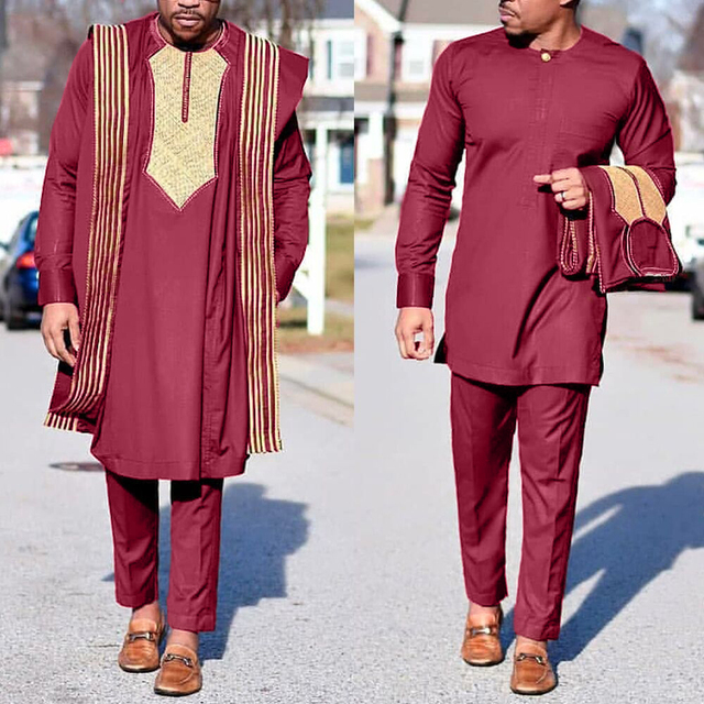 African Agbada Suit For Men 1