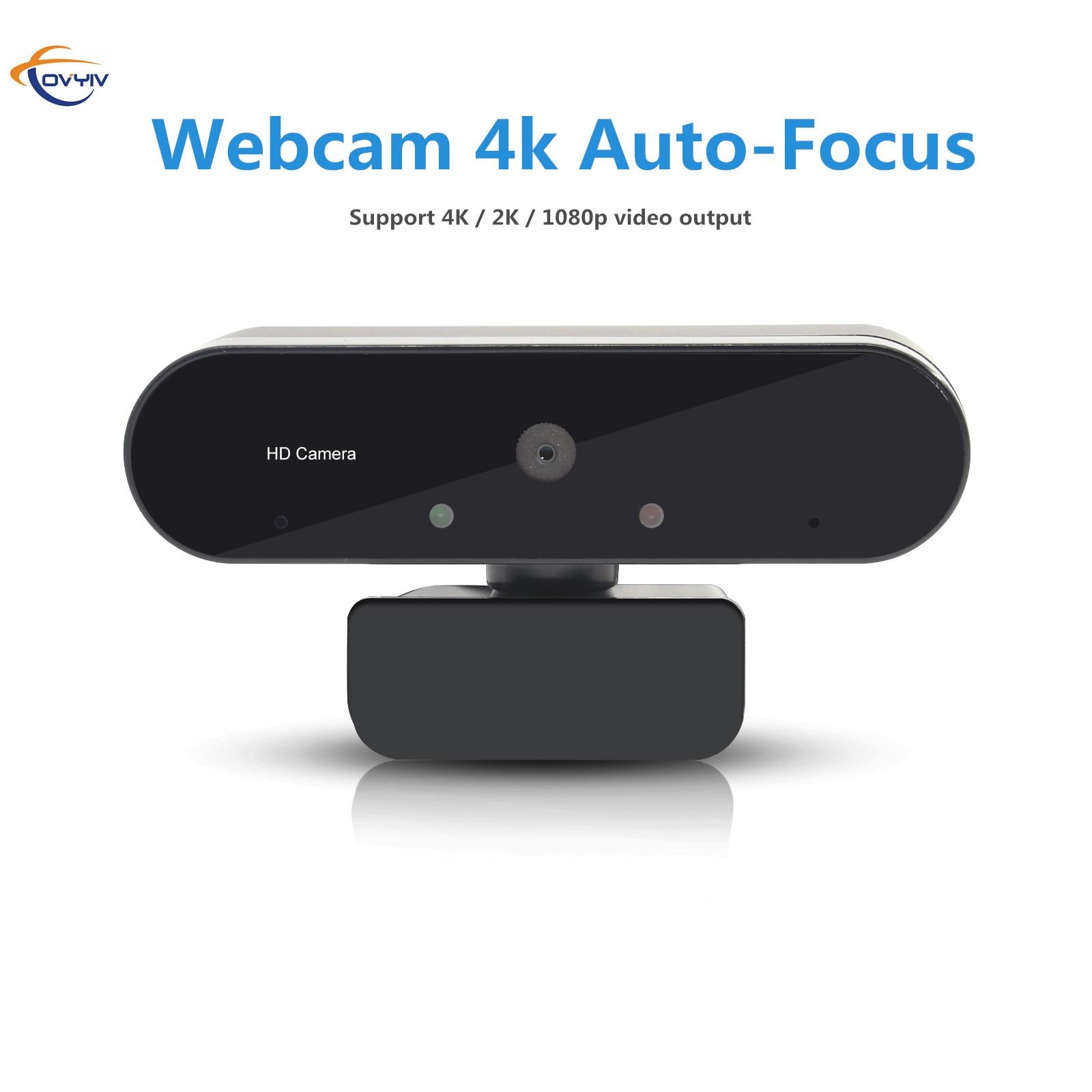 COVYIV 4K камера 1080p Автофокус веб-камера USB веб-камера Камера для компьютера MAC ноутбука офисном встречи С микрофоном 4K / 2K