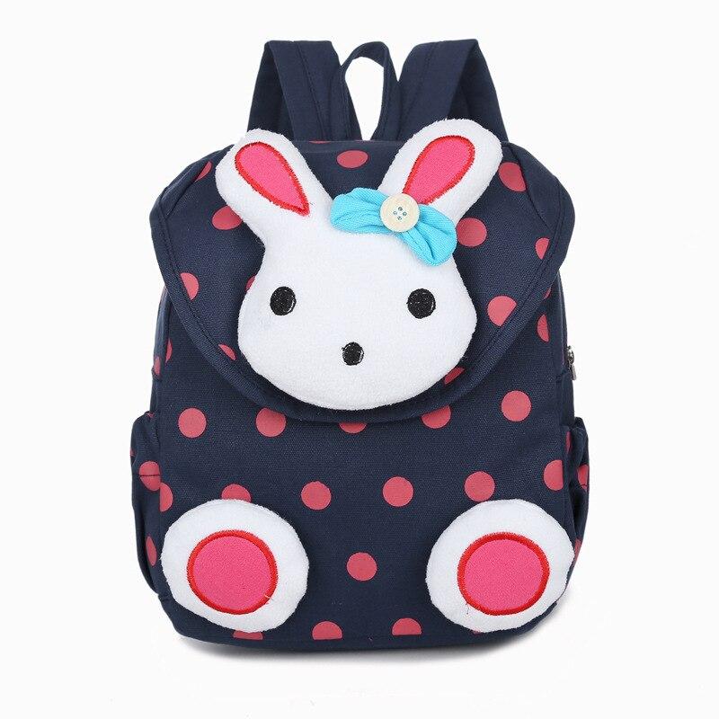New Hot Sale Cute 3D Dot Rabbit Toddler Backpack Softback Korean Mini Schoolbag Kids Kindergarten Baby Girls Gifts Mochila 1-3