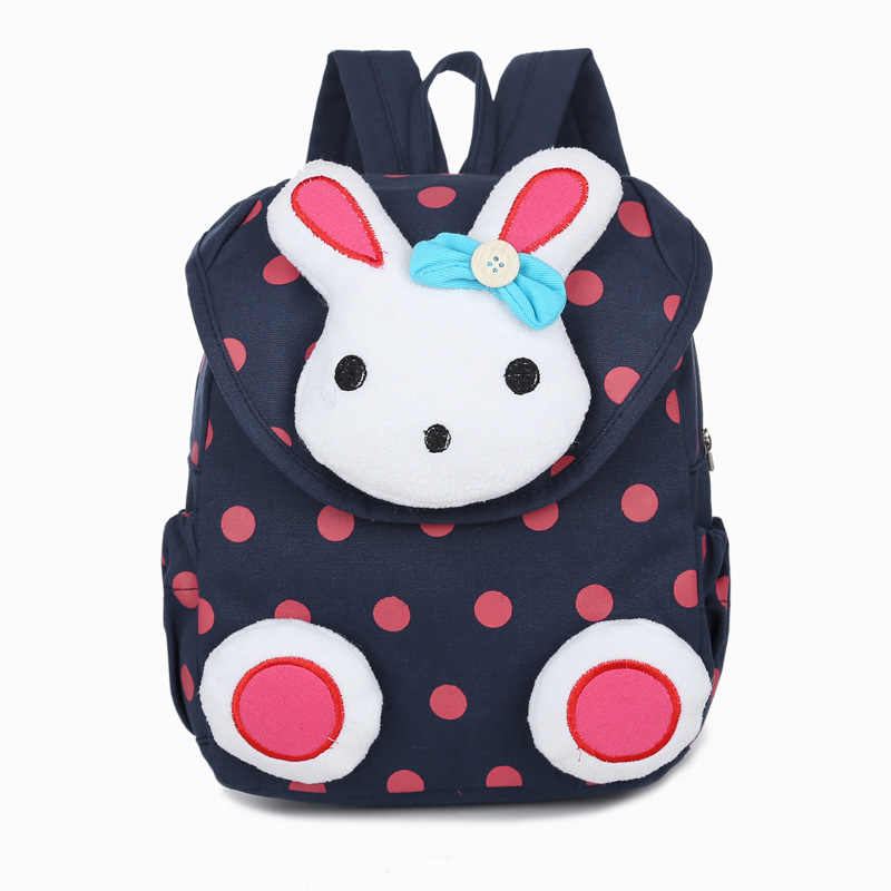 Nowa gorąca sprzedaż śliczne 3D Dot królik plecak dla malucha softback koreański mini tornister dzieci przedszkole dziewczynek prezenty Mochila 1-3