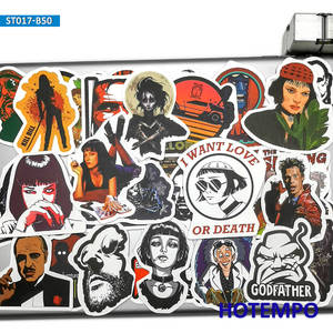 Image 4 - 50pcs Classic Movie Fight Club Godfather Mix Graffiti Stickers for Mobile Phone Laptop Luggage Pad Case Skateboard Decal Sticker