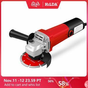 Image 1 - HILDA amoladora angular eléctrica, 1100W, herramienta eléctrica de molienda, corte de Metal