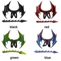 Wavel Dragon Decoration Halloween Christmas Wing Tail Funny Kids Cosplay Set Party Playthings Dinosaur Dress Up