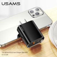 USAMS 20W PD Fast Charger QC3.0 QC3.0 USB Type C Quick Charge For Ipad Mini Iphone 12 Pro Max 11 8 Huawei P30 p40 Xiaomi 10 9 8