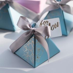 Image 1 - משולש פירמידת סוכריות תיבת חתונה טובה ומתנות קופסות ממתקי שקיות חתונה אורחים קישוט תינוק מקלחת ספקי צד