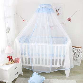 Nordic INS Baby Cot Mosquito Net Korean Lace Princess Infant Baby Crib Curtain Net Child Bed Net Clip Holder Universal Net Decor