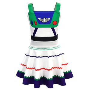 Image 2 - Buzz Lightyear Costumes Girl Dresses Fancy Dress Halloween Costumes For Kids Buzz Lightyear Role Play  Cosplay Costumes