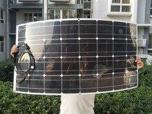 100 واط 200 واط 300 واط 400 واط مرنة لوحة طاقة شمسية 18 فولت خلية شمسية أحادية البلورية ل RV سيارة قارب المنزل سقف عربات التخييم 12 فولت شاحن بالطاقة الشمسية