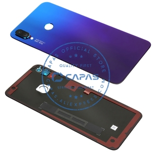 Image 5 - Original For Hawei P Smart Plus Back Cover + Camera Glass For Huawei Nova 3i Rear Battery Door Cover Replacement Spare Parts