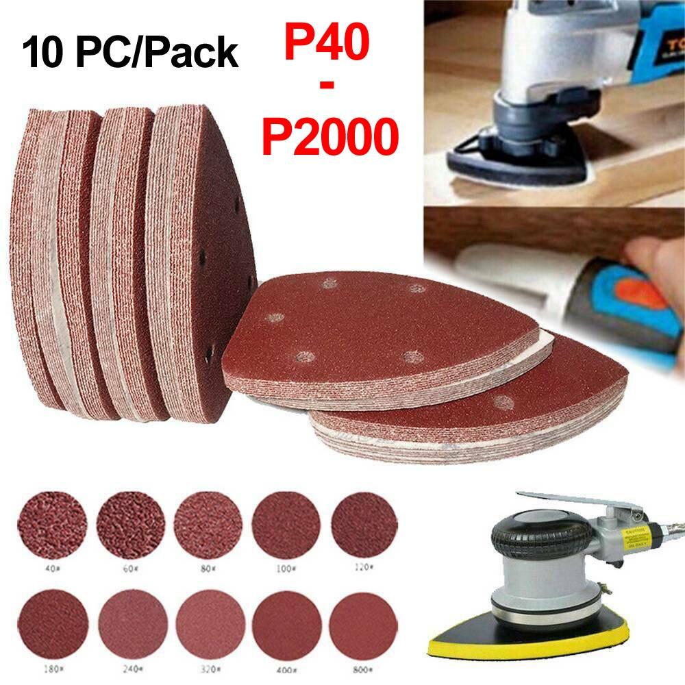 10 teile/paket Maus Schleif Blätter Black & Decker Maus Palm Sander Schleifpapier Pads Discs Gemischt 40 60 80 120 240 grit