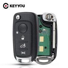 KEYYOU inteligente caso clave Fob control remoto de coche para Fiat 500X Egea Tipo 2016-2018, 433,92 FSK 4A Chip 2016-2018 3/4 botones