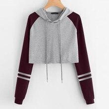 Womens Patchwork Sweatshirt Long Sleeve Splice Pullover bts bangtan casual hoodi