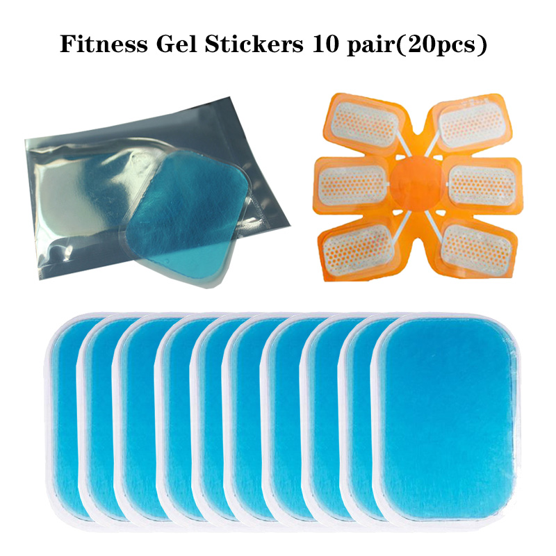 10pair20Pc Replacement Fitness Gel Sticker Hydrogel Body Massager Electrode Patch For EMS Muscle Stimulator Trainer ABS Training