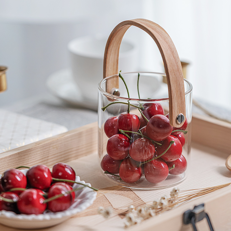 Simulation fruit model fake cherry cherries gourmet photography photo props window decoration scene layout ornaments