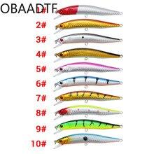 10colors Minor Luya bait plastic 10cm / 8.3g bionic fake bait plastic hard bait fishing tackle bait fake bait good bait
