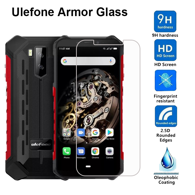 2.5D 9H Tempered Glass For Ulefone Armor 2 S 3 3T 5 6 6E 6S 7 Screen Protector Protective Film on Ulefone Power 5 5S Glass Cover(China)