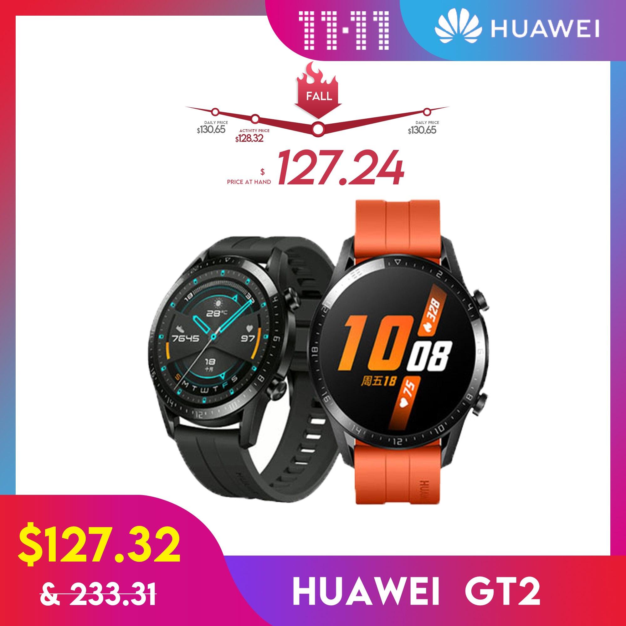 HUAWEI GT2 Smartwatch Version mondiale 14 jours GPS appel intelligent Bluetooth oxygène sanguin pour Android iOS en Stock | AliExpress
