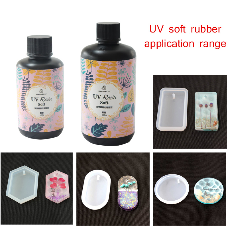 25g/60g/100g UV Resin Crystal glue Clear Soft Type Ultraviolet Solidify Crafts DIY Making Jewelry Mold Resin UV Jewelry Tools