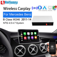 Wireless carplay Android auto Smart car retrofit for Mercedes B Class 2011-14 W246 W242 Support IOS Mirror link Reverse camera