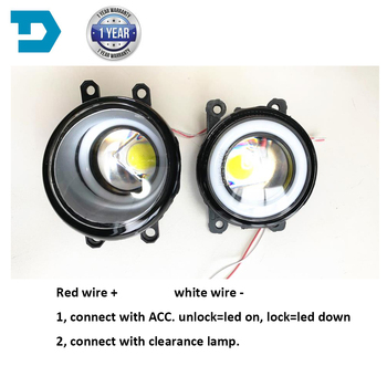 Światła przeciwmgielne dla Toyota Corolla lampa przeciwmgielna dla Camry 2008-2010 dla Avensis Ractis Verso 2003-2014 halogenowe LED DRL z obiektywem tanie i dobre opinie DTEXP CN (pochodzenie) LED WITH LENSE