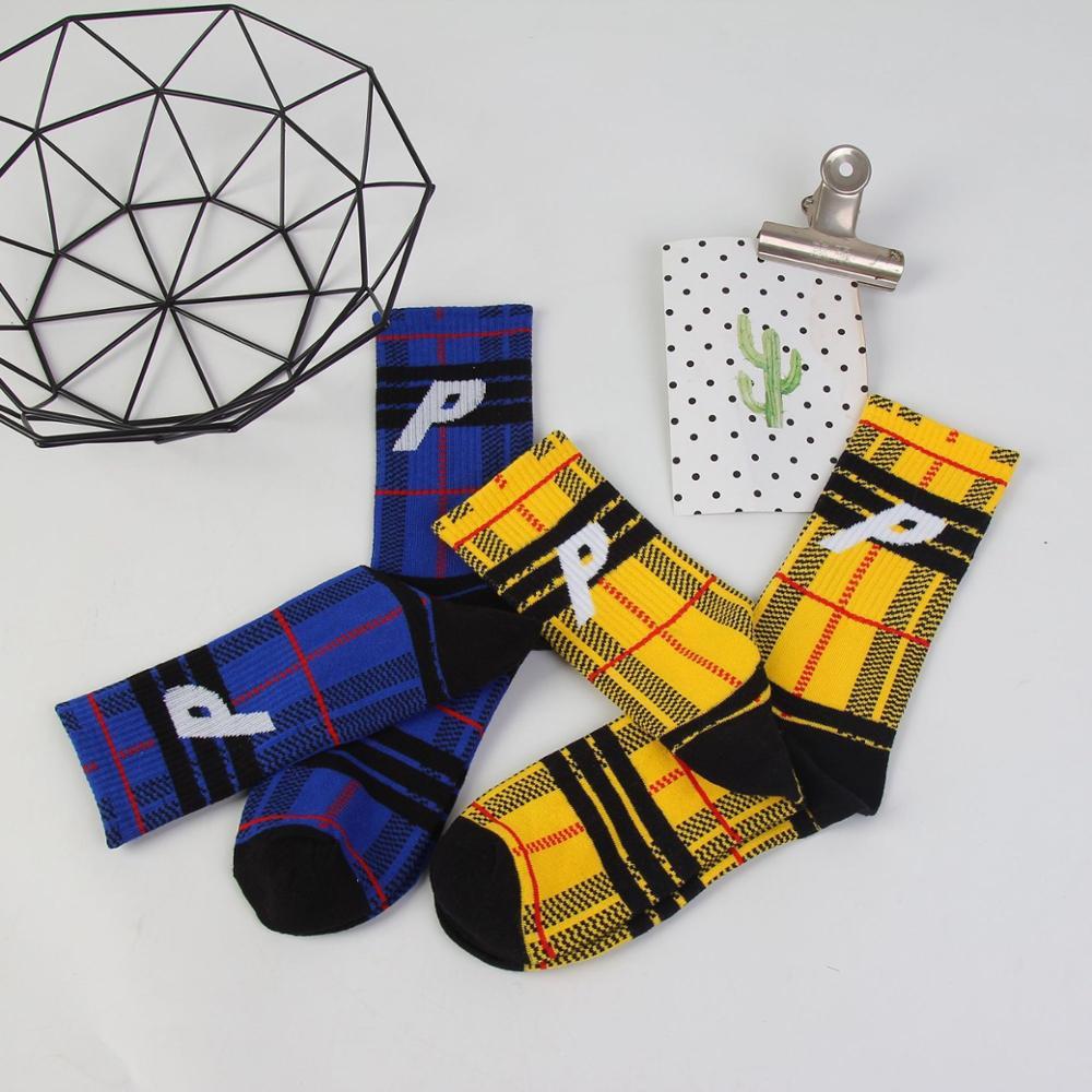 Funny Lettering Print Smoked Creative Socks Street Skateboard Basket Basketball Socks Neutral Crew