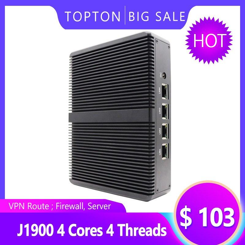 Mini PC With 8GB RAM 64GB SSD, 4 Intel LAN Port, VGA, 4 USB Port, Celeron J1900 Processor Quad Core 2 GHz, Fanless Mini VPN PC