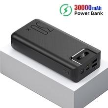 30000 mAh قوة البنك المحمولة شحن Poverbank الهاتف المحمول بطارية خارجية شاحن باوربانك 30000 mAh ل Xiao mi mi
