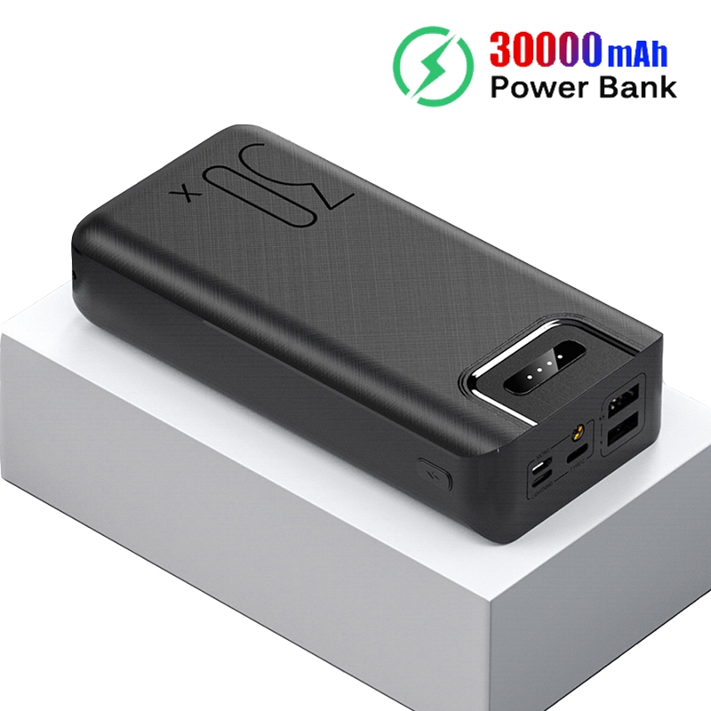 30000mAh Power Bank Portable Charging Poverbank Mobile Phone External Battery Charger Powerbank 30000 mAh for Xiaomi MiPower Bank   -