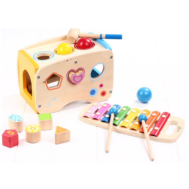 Wooden Xylophone, Puzzle, Blocks and more
