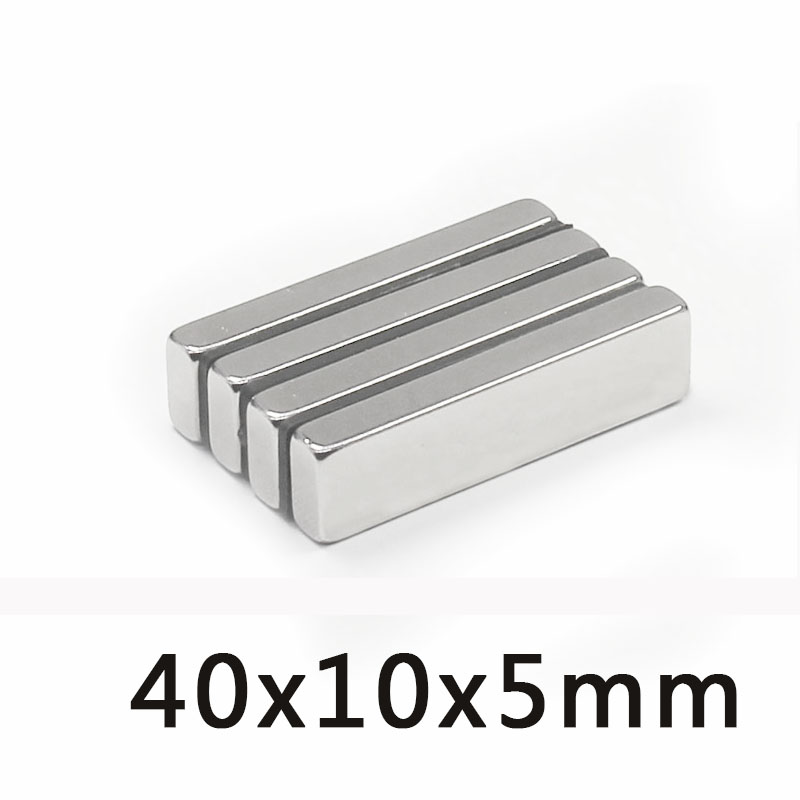 6/10/<font><b>30</b></font> PCS Super 40 x10 x <font><b>5</b></font> mm N35 Strong Small Neodymium Magnets Rare Earth Powerful Magnet 40*10*5mm image
