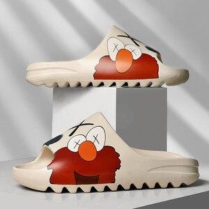 Unisex 35~46 Designer Kanye Women 2020 Brand Men Foam runner summer men's slide casual slippers beach shoes eva injection shoes