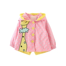 2019 Spring Autumn Baby Girls fashion cartoon hooded Coats Cute Baby