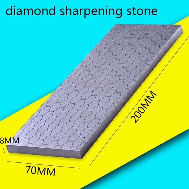 [ВИДЕО] 1 шт. 400 1000 двухсторонняя зернистость Алмазная точилка для ножей точильный камень кухонные инструменты хонингование лезвия грубая заточка