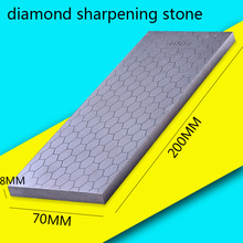 [Video]1pcs 400 1000 double side grit diamond knife sharpener sharpeing stone kitchen tools honing blade coarse sharpen