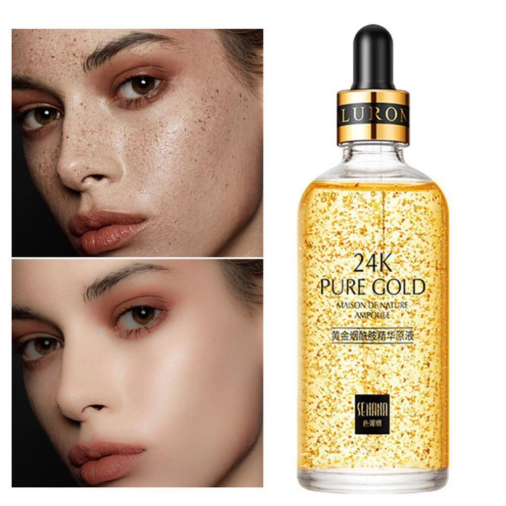 24K Gold Anti-Wrinkle Anti-Aging Face Serum Firming Nicotinamide Whitening Essence Moisturizing Brighten Cream Skin Care