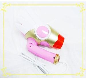 Image 3 - Card Captor Sakura Cartoon Hair Dryer Folding Birds Head Shape White Wings Star Cosplay Pink Anime Action Figure Printed Doll