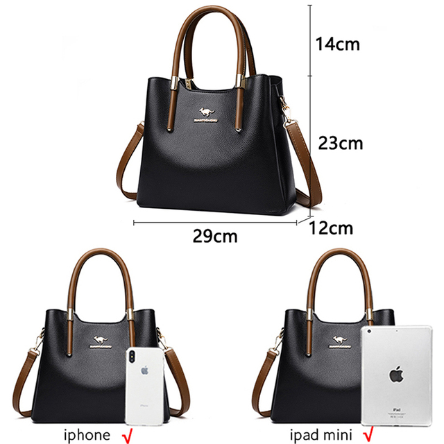 Leather Casual Crossbody Bags for Women 2020 Ladies Luxury Designer Tote Handbag Top-Handle High Quality Shoulder Bag Sac A Main 5