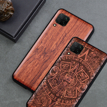 For Huawei P40 Lite Case Boogic Original Wood funda Huawei P40 Rosewood Cover Phone Case For Huawei P40 Pro фото