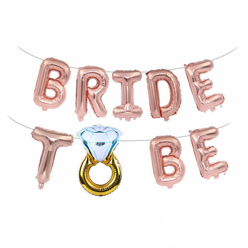 Wedding Decoration Groom Bride To Be Ballon Mr Mrs Wedding Event Party Ballon Team Bridal Shower Hen Bachelorette Party Supplies