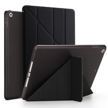 цена на Case for iPad 2 3 4 Magnetic Auto Wake Up Sleep Flip PU Leather and Hard PC Case Cover With Smart Stand Holder for iPad 4 3 2